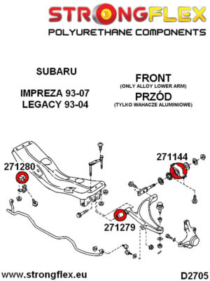 271144A: Front wishbone rear bush sport