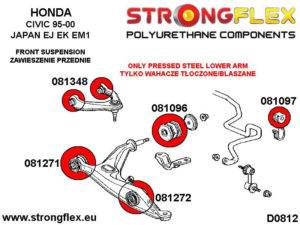 086097B: Front suspension bush kit