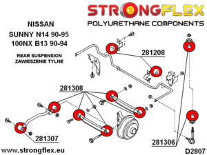 286100B: Rear suspension bush kit
