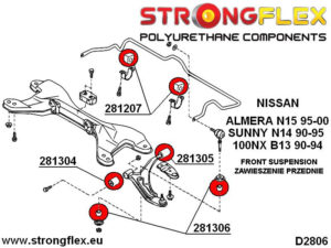 286101B: Full suspension bush kit