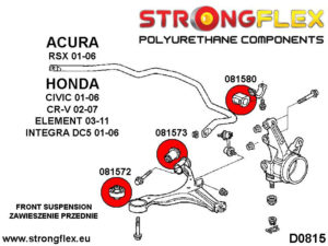 086169A: Front suspension bush kit SPORT