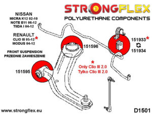 151596B: Front wishbone rear bush