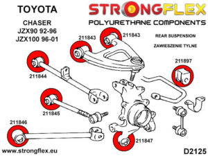 216242A: Rear suspension bush kit SPORT
