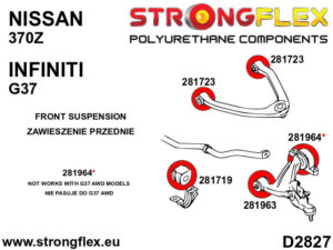 286201B: Front suspension bush kit