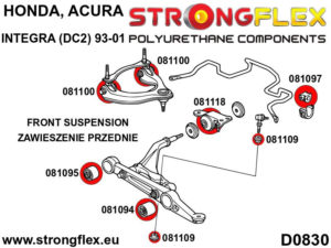 086196A: Front suspension bush kit SPORT