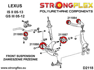 216247B: Front suspension bush kit