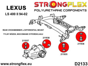 211938A: Rear differential – rear bush SPORT